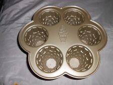 Nordic Ware 6 Cup Ice Cream Mould Cup Cake Baking Pan / Dish