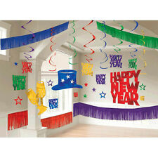 Happy New Year Party Jewel Tones Multi-color Giant Room Decorating Kit