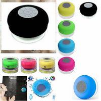 Mini Altavoz NEGRO Bluetooth Inalambrico Impermeable Ducha Coche Smartphone agua