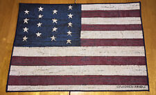 American Flag Colonial Single Tapestry Placemat ~ Artist, Warren Kimble