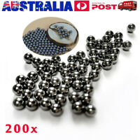 200pcs Industrial Loose Beads Bike Stainless Steel Ball Bearings Dia 6mm AU