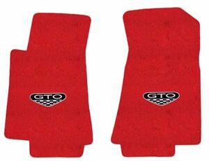NEW! FLOOR MATS 2005 - 2006 PONTIAC GTO CREST Embroidered Logo Carpet Set of 2