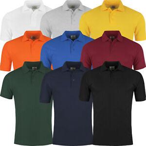 Mens Polo Shirts Short Sleeve Pique Regular Fit Premium Work Casual Plain Top