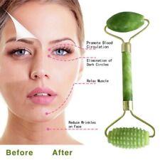 Rose Quartz Facial Massage Roller Stone Jade Anti-aging SPA Face Massager ToolUS