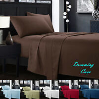 Egyptian Comfort 1800 Count 4 Piece Deep Pocket Bed Sheet Set King Queen Size J3