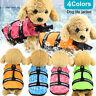 Pet Safety Vest Dog Life Jacket Reflective Stripe Preserver Puppy Swimwear UK