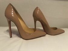 Christian Louboutin Pigalle 120 Nude 40 7 authentic Point Heel Patent Leather