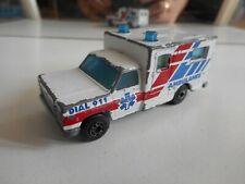 Matchbox Ambulance in WHite/Red/Blue