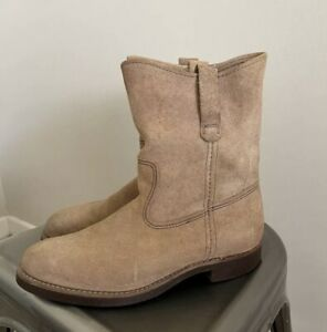 """RARE Deadstock Red Wing 9"""" Pecos Boot 8188 Hawthorne Muleskinner USA Suede Wings"""