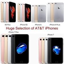 Apple iPhone 6, 6 Plus, 6S, 6S Plus, 7, 7 Plus | AT&T Only 4G LTE Smartphones