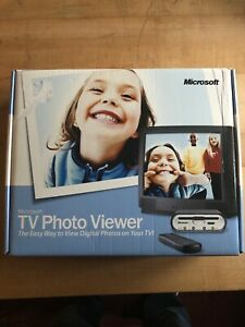 Microsoft TV Photo Viewer with Remote & CD -View Digital Photos Sealed Box