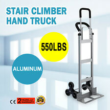 2In1 Hand Truck Stair Climber Aluminum Cart Dolly 550Lbs Folding Convertible