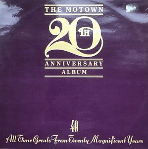 THE MOTOWN 20TH ANNIVERSARY LP VINYL RECORD DOUBLE ALBUM TESTED MARVIN GAYE ETC