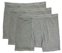 Big & Tall Men's Hanes Underwear Boxer Briefs 3-PACK GRAY/Gray 3XL 4XL 5XL