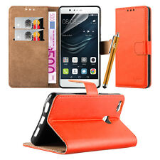 Wallet Pouch Leather Book Flip Case Cover for Various Mobile PHONES Orange Samsung Galaxy S6
