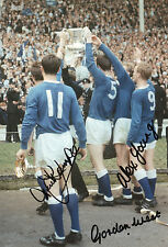 EVERTON Signed In Person 12x8 Photo 1966 FA CUP Winners YOUNG. WEST & TEMPLE COA
