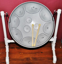 G Blues Scale Steel Drum w/ Sticks & Stand - Fun for Guitar Players & Drummers!