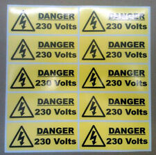 40 X Danger 230 Volt Stickers 50mm X 20mm Warning & Safety Signs
