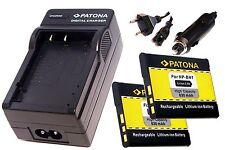 AKKU Ladegerät und 2 * Akku Batterie Accu im SET für Sony CyberShot DSC-T99