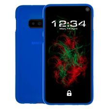 Étui Mat Bleu pour Samsung galaxy S10e Coque Étui Coque Bumper