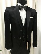 ABITO  SPOSO T. 50 NERO UNITO  FIRMATO CARLO PIGNATELLI SUIT GROOM WEDDING