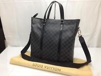 """Auth Louis Vuitton Damier Graphite Tadao Hand Bag N51192 8D180030t"""""""