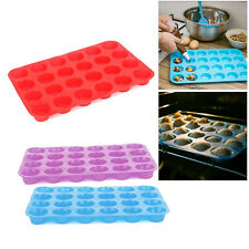 24-Cup / Cavity Silicone Mini Cupcake Muffin Baking Pan - Non-Stick Cooking