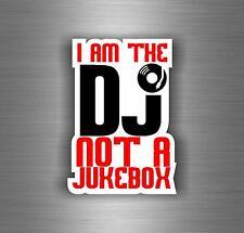 Sticker decal art wall car moto biker DJ headphones music turntable not jukebox