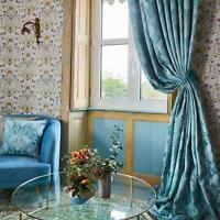 The Chateau Angel Strawbridge Teal Curtains Deco Heron Tape Top Ready Made Pairs