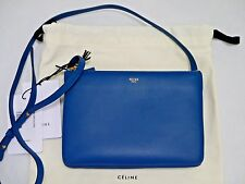 NEW CELINE Trio blue leather small crossbody bag handbag