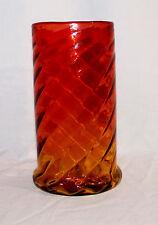 Mount Washington (or Harrach) Victorian Amberina Glass Vase Swirl