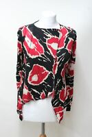 VIVIENNE WESTWOOD ANGLOMANIA Ladies Red Black Beige Camo Wrap Around Top S