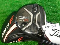 Titleist 917F2 15* 3 Wood HZRDUS Smoke 6.0 Stiff w HC, Red 14g Draw/Fade Weight
