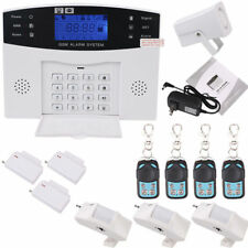 Wireless LCD GSM SMS Burglar Fire Alarm System Auto Dialer House Security Safe