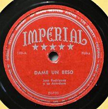 Jose Rodriguez Dame un Beso 78 NM Labios de Coral Latin Spanish Schottis Polka
