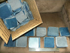 """New listing 9 Pounds of 4"""" Squares Denim All Blue Jeans Quilt or Craft. Washed & Rotary Cut"""