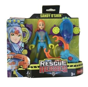 Fisher Price Rescue Heroes Sandy O'Shin. Removable Flippers & Water Rescue Claw