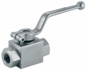 """Hydraulic 2 Way BSPP Ball Valve For Sizes Ranging 1/4"""" to 1.1/2"""""""