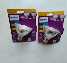 75-Watt Equivalent PAR30S Dimmable LED Flood Light Bulb Warm Glow Bright White