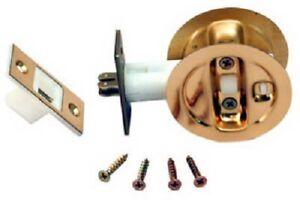 LE Johnson Bright Brass Finish, Pocket Door Privacy Lock