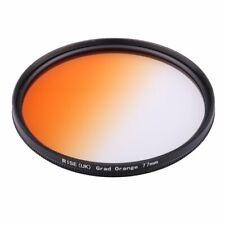 RISE(UK) 77mm Graduated Color Orange Filter For Canon Nikon 77mm lens thread