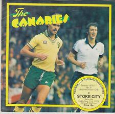 Programme / Programma Norwich City FC v Stoke City 11-12-1976