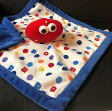 Graco White Blue Red Monster Dots Plush Baby Lovey Security Blanket