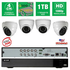 Q-See 4Ch 4 Cameras Full-Hd 1080P System Qth94-4Dh-1 Oem 1Tb Hard Disk Oem