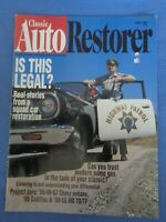 Classic Auto Restorer Aug 1996 CHP Police Car Restoration Chevy Sedans Cadillac