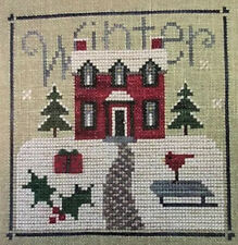 "Lizzie Kate Cross Stitch Chart - Snippet ""Winter Sampler"" #S23"