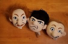 Three Stooges Knucklehead 1997 Soft Plush Wise Guy Head Larry Moe Curly No Sound