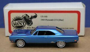 Brooklin US Model Mint 16B 1969 Plymouth GTX Blue 1:43 Mint/ Box 1995