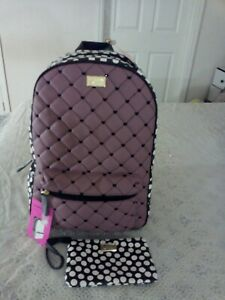 Betsy Johnson Quilted Backpack & Wristlet