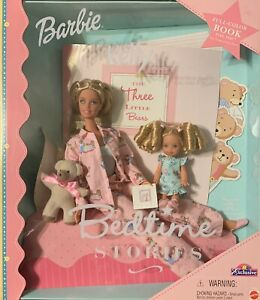RARE ToysRUs Exclusive Barbie & Kelly Bedtime Stories Three Little Bears Set NIB